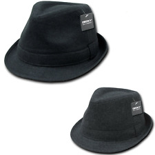 NEW DECKY MELTON FEDORA FEDORAS WOOL BAND HAT CAP HATS HIPSTER MIAMI