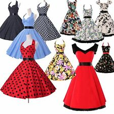 VINTAGE STYLE VICTORIAN SWING DRESS ROCKABILLY 50S PINUP PROM SHORT DRESSES GOWN