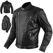 Leather Jacket Armour CE Warm Motorcycle Motorbike Scooter