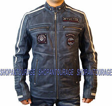 AFFLICTION American Rebel 110OW200 New Men`s Leather Jacket+Free $39.00) T-shirt