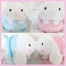 New So Cute Lop-ear Bunny Rabbit Head Backpack Plush Doll Wave Point School Bag