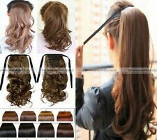 New Clip In Ponytail Pony Tail Hair Extension Wrap On Hair Piece Curly