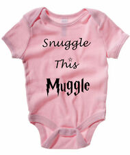 SNUGGLE THIS MUGGLE BABY ONE PIECE HARRY POTTER INFANT APPAREL HOGWARTS ROMPER