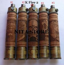 k fire 2 battery e fire wooden spinner battery variable voltage vape pen 4.8V