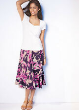 KALEIDOSCOPE PURPLE PRINT COTTON SKIRT SIZE 10 & 12 BNWT RRP £35.00