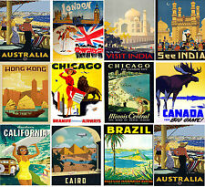 HUGE LAMINATED TRAVEL RAILWAYS RETRO VINTAGE ANTIQUE A4 Posters Wall Art Print