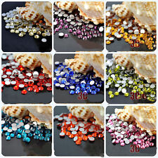 Lots 2000Pcs Crystal Flat Back Acrylic Rhinestones Gems Loose Beads 2mm