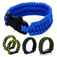 2 x Paracord Survival Parachute Cord Rope Bracelet Whistle Survival Camping