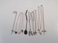 Lot Of 11 Beautiful Mixed Costume Jewelry Necklaces