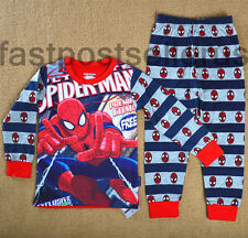 SPIDERMAN Cotton Boys Toddler Kids Pajamas Pyjamas Outfit  Sleepwear Set 1-6