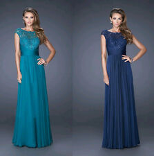Women Long Chiffon Wedding Evening Formal Party  Gown Prom Bridesmaid Dress