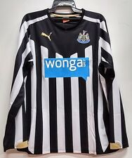 BNWT NEWCASTLE UNITED HOME LONG SLEEVES FOOTBALL SOCCER JERSEY TRIKOT 2014 2015