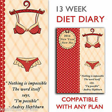 NEW A5 DIET DIARY/TRACKER/BOOK/FOOD LOG/ WEIGHT LOSS/COMPATIBLE WITH SLIMMING W