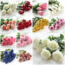10-20 Head Decor Latex Real Touch Rose Wedding Bouquet Home Party Design Flowers