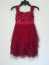 Girls Biscotti Dress Ruby Red Wedding Holiday Special Occasion Sz 4 5 6 6X