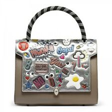New AW14/15 ANYA HINDMARCH Stickers Bathurst Leather Tote Bag Handbag - SOLD OUT