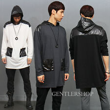 Mens Street Fashion Loose fit Jersey hood pocket Boxer T Shirt, GENTLERSHOP
