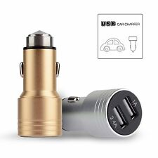 2.4A+1A Dual 2 Port USB Car Charger Universal For iPhone 5 6 Samsung iPod MP4 DV