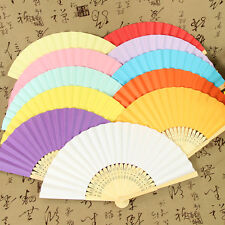10 x Summer Ladies Hollow Outdoor Folding Colorful Paper Hand Fans Wedding Favor