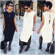 Sexy Women Sleeveless Casual Bodycon Shift Dress Cocktail Evening Party Dress