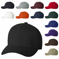 Flexfit - Structured Wool Fitted Baseball Caps Mens Hats S/M L/XL - 6477  New