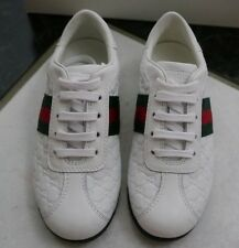 NIB 100% AUTH gucci microguccissima leather kids sneakers shoes 271316