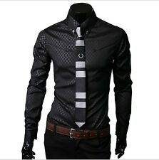 New Fashion Mens Luxury Casual Stylish Slim Fit Long Sleeve Dress Shirts M-5XL
