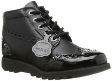 Kickers Kick Hi Brogue 112410 Womens Leather Back to School Shoes