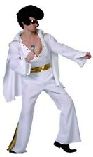 Elvis Rock Star Mens Halloween Fancy Dress Costume includes WIG