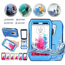 Waterproof Shockproof Dirtproof Heavy Duty Hard Case Cover w/Stand For LG G3