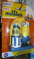 Wilton Cake Decorations MINIONS Sprinkles, Fun Picks, Royal Icing, Candle