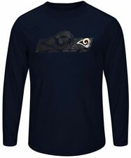 St. Louis Rams Mens Long Sleeve Synthetic Storm Shirt Navy Blue Big & Tall Sizes