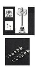 Small Sparky Clear Crystal Stud Earrings Crafted With Sterling Silver 3- 8mm