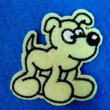 Dog Poppy Iron on Sew Patch Cute Applique Badge Embroidered Animal Kids School