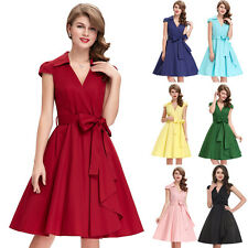 Sexy Womens Vintage Rockabilly Pinup Formal Party Evening Pencil Housewife Dress