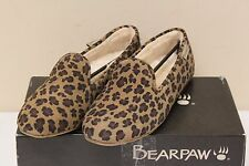 Bearpaw Octavia Womens Hickory Leopard Suede Flats Slipper Shoes Size 6