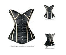 14 Full Steel Boned Heavy Lacing Satin Overbust Shaper Corset #8573(SA)