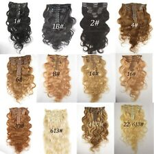Hot Sale Human Hair Weft Brazilian Body Remy Hair Weaves Clip In Hair Extension