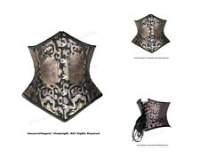 18 Full Double Steel Boned Waist Training Brocade Underbust Corset #8589(BRO)