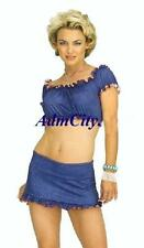 Admcity Ruffle Trim Top and Mini Skirt Set