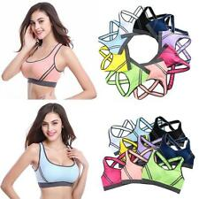 Womens Sports Bra Seamless Yoga Gym Crop Top Vest Stretch Shapewear Padded Bras