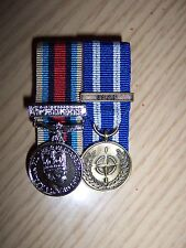 2 MINIATURE MEDALS COURT MOUNTED READY FOR WEAR