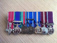 7 MINIATURE MEDALS COURT MOUNTED READY FOR WEAR
