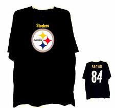 NWT Pittsburgh STEELERS #84 BROWN Football MENS Short Sleeve Shirt L,XL,2XL 3XL