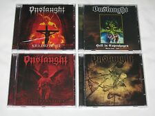 Onslaught 4 CD lot Thrash Metal Killing Peace Shadow Of Death Live Damnation