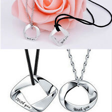 "Silver Plated Couple Necklace ""With You""Exquisite Pendant Unique Design Necklace"