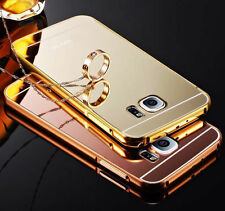 For iPhone Samsung New Aluminum Metal Ultra Thin PC Mirror Hard Back Case Cover