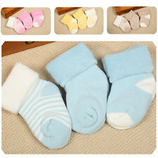 3 Pairs/Set Cotton Anti-silp Socks Bootie Bootee for Newborn Baby Infants Kids