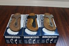 Birkenstock Gizeh Stone Birkibuc, Mocha Birkibuc, and Black Birko-Flor Sizes New