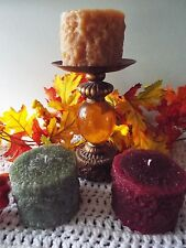 Beautiful Grubby Pillar Candles-Full 3x3-Your Choice of Color & Fragrance